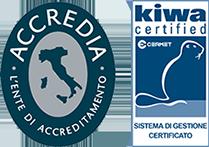 Azienda Certificata Kiwa Accredia per la gestione dei dati sensibili